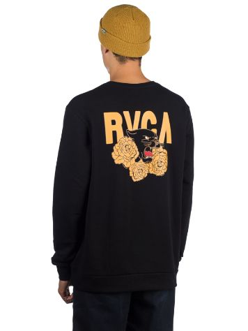 RVCA Panther N Roses Crew Sweater