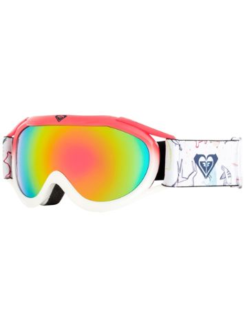 Roxy Loola 2.0 Bright White/Animals Party Youth Goggle jongens