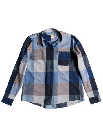Roxy Concrete Streets Check Shirt LS
