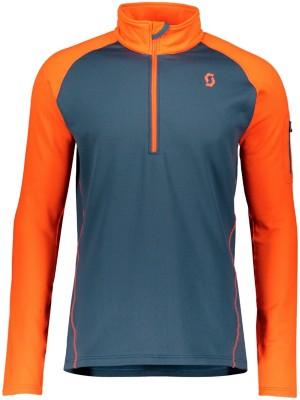 Scott Pullover Defined Light Tech Tee LS tng orange / nghtfll blue Gr. L