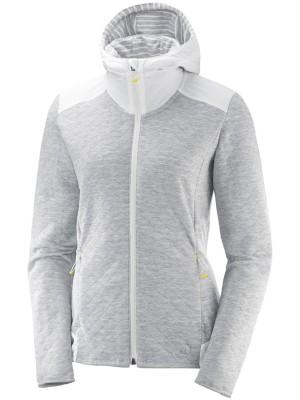 Salomon Elevate Fz Midlayer Fleece Jacket white Gr. M