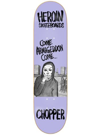 "Heroin Skateboards Chopper Wordsmith 8"" Skate Deck"