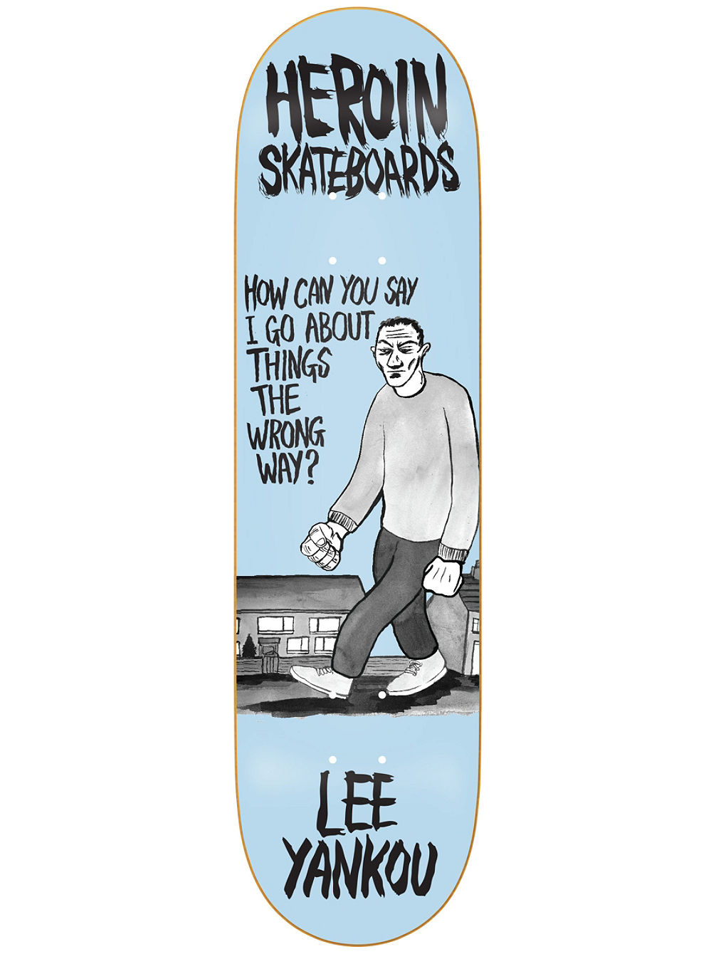 "Yankou Wordsmith 8.25"" Skate Deck"