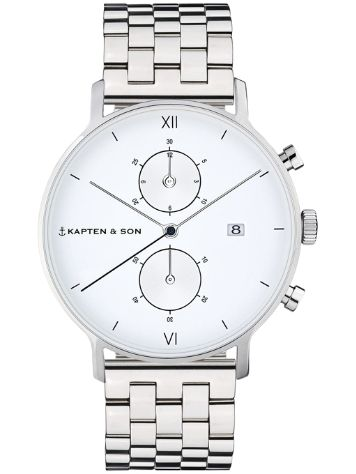 Kapten&Son Chrono Steel White 40mm Reloj