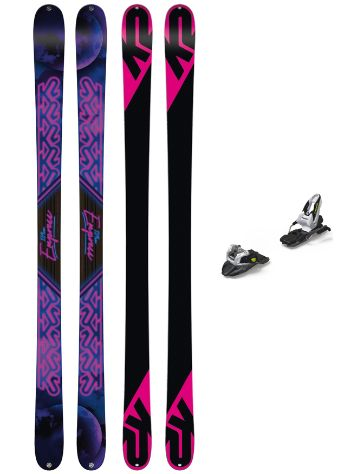K2 Empress 169 + Free Ten 85mm 2019 Conjunto freeski
