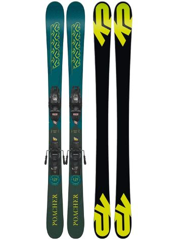 K2 Poacher 139 + FDT 7 2019 75mm Youth Freeski-Set