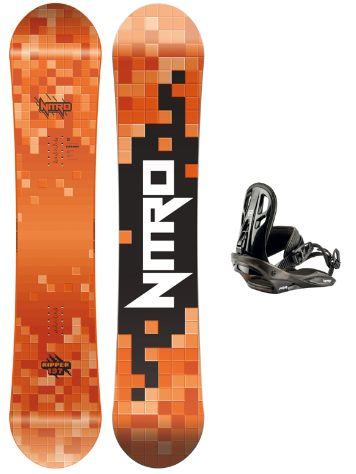 Nitro Ripper 137 + Charger Set 2019 Boys Snowboard Set