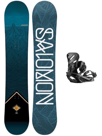 Salomon Sight 156 + Rhythm M Blk 2019 Conjunto snowboard