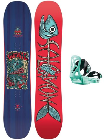 Salomon Grail 120 + Goodtime 2019 Boys Conjunto snowboard