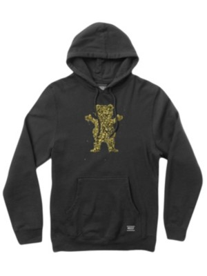 Grizzly Roll Up Bear Hoodie black Gr. S