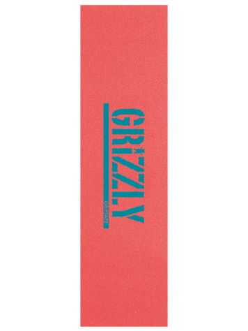 Grizzly Reverse Stamp Grip Coral Aqua Griptape