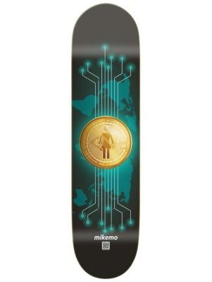 """Girl Mike Mo Crypto Currency 8.0"""" Skate Deck uni Gr. Uni"""