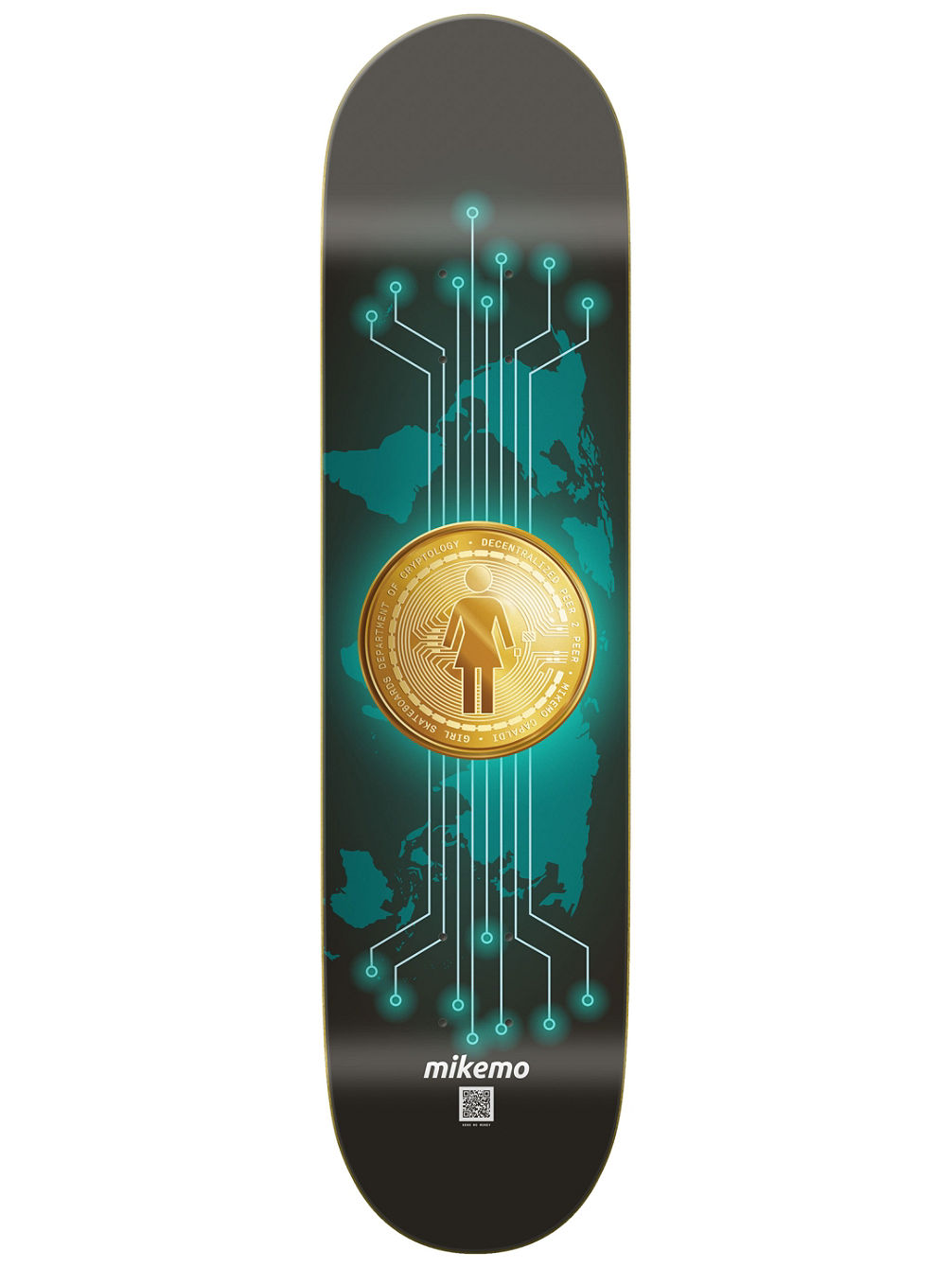"Mike Mo Crypto Currency 8.0"" Skate Deck"