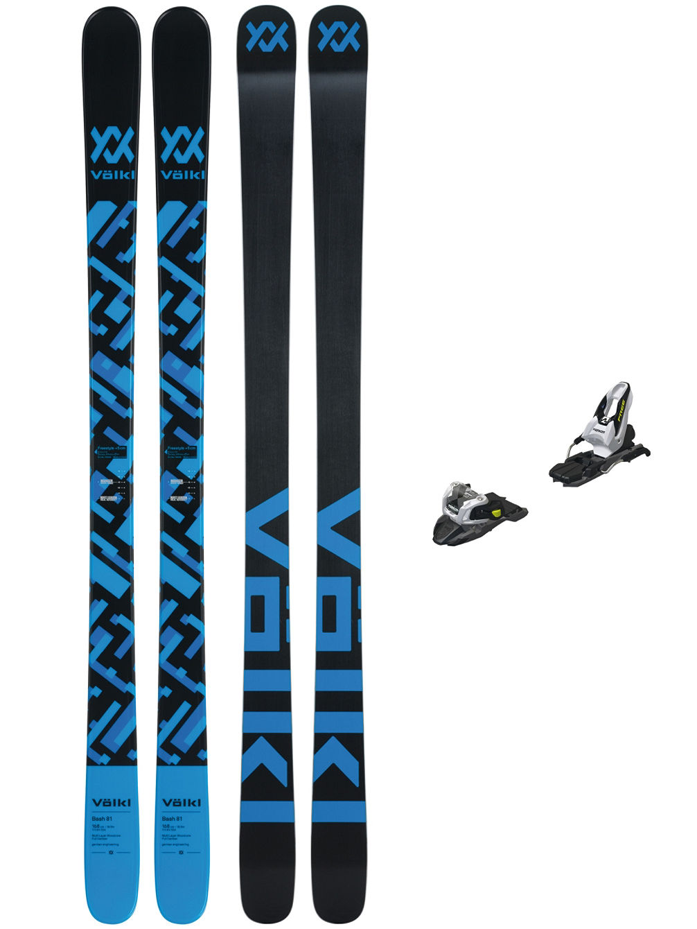 Bash 81 178 + Free Ten 85mm Blk 2019 Freeski-Set