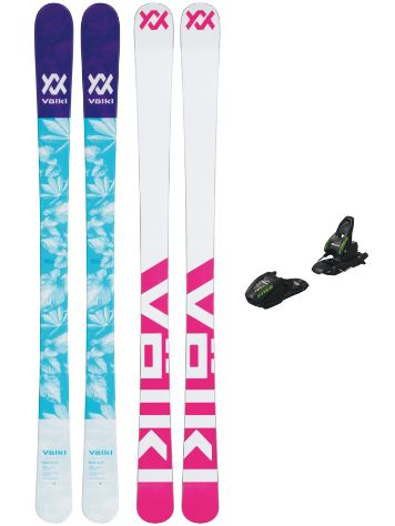 Völkl Bash 138 + Free 7.0 85mm 2019 Girls Freeski-Set