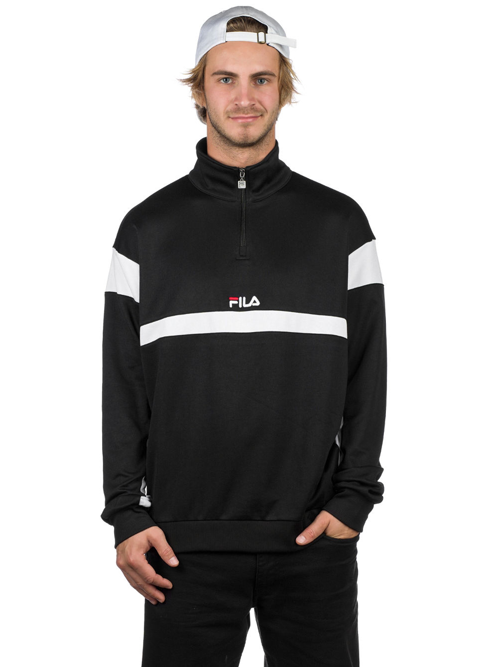 0a285a6a1251 Buy Fila Herron Track Top Half Zip Sweater online at Blue Tomato