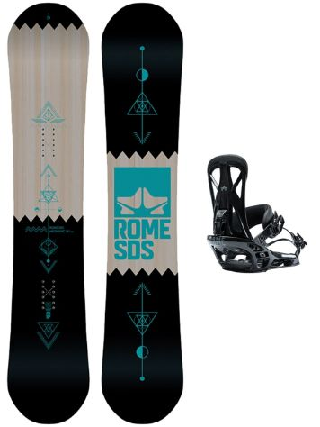Rome Mechanic 154W + United L Black 2019 Set da snowboard