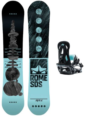 Rome Royal 147 + Shift S Black 2019 Snowboard Set