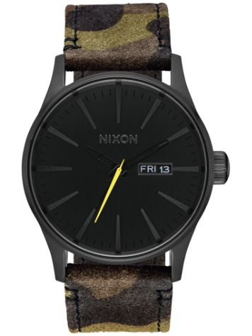 Nixon The Sentry Leather Reloj