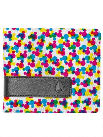 Nixon Showdown Print Bi-Fold Zip Wallet