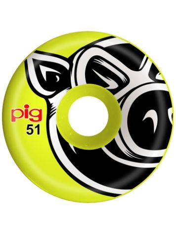 Pig Wheels Head C-Line Yellow 51mm 101A Rollen