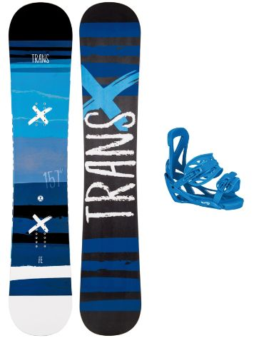 TRANS FE Blue 163W Rocker + Elfgen Team L Blue 2019 Snowboard set