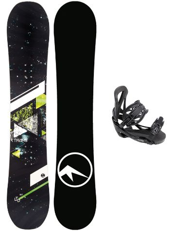 TRANS LTD Green 157MW + Elfgen Team L Black 2019 Conjunto snowboard
