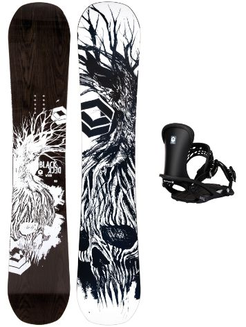 FTWO Blackdeck Wood 157MW + Pipe L Blk 2019 Snowboard Set