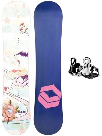 FTWO Bloom 135 + Pipe Rookie S Black 2019 Girls Conjunto snowboard