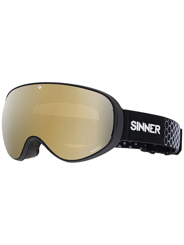 Sinner Nauders Matte Black (+Bonus Lens) double gold mirror+double