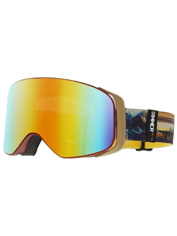 Sinner Olympia Sunset Orange Transparent Goggle