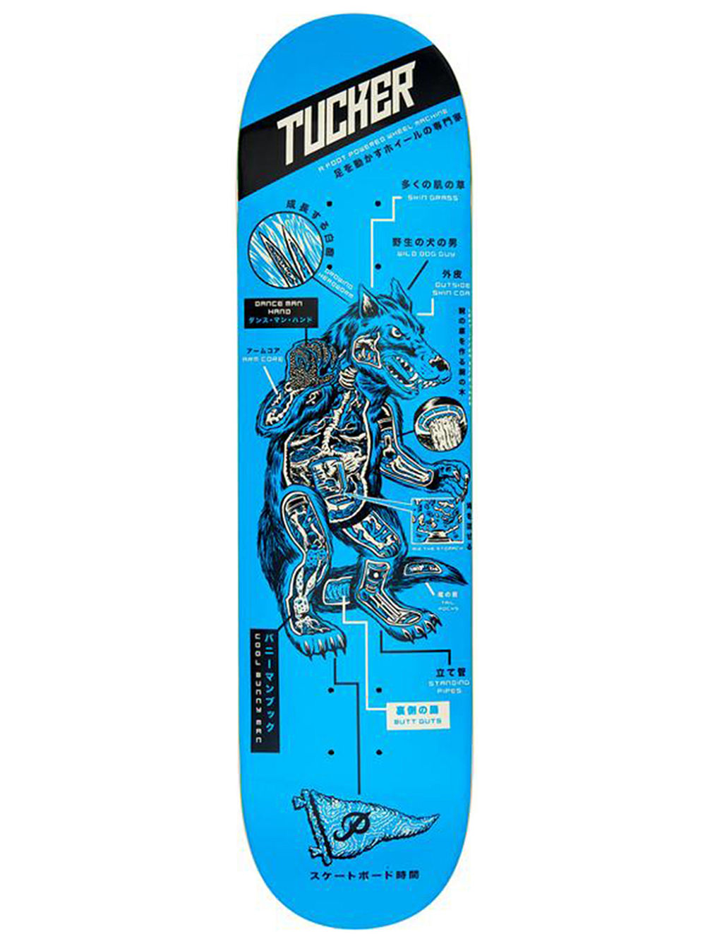 Tucker Kaiju 8.0'' Skateboard Deck