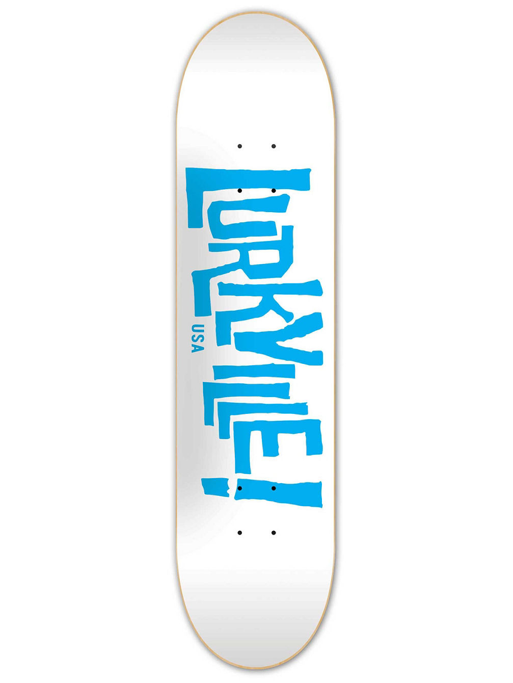 Logo White Blue 8.5'' Skateboard Deck