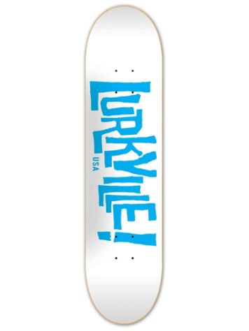 Lurkville Logo White Blue 8.5'' Skateboard Deck