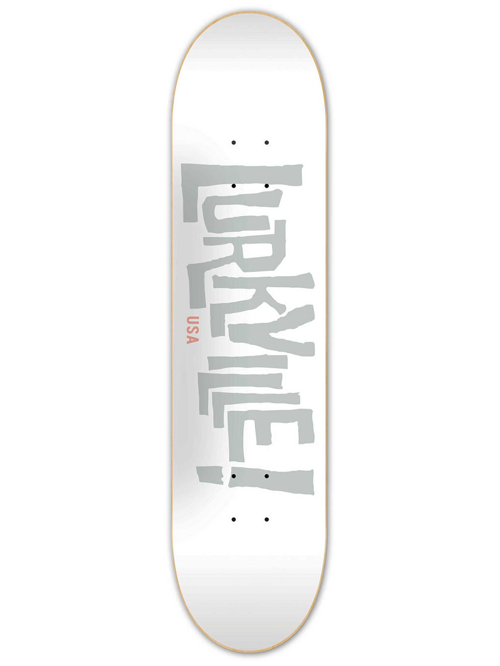 Logo White Grey 8.5'' Skateboard Deck