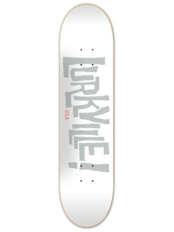 Lurkville Logo White Grey 8.5'' Skateboard Deck