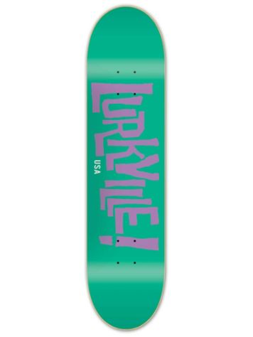 Lurkville Logo Green Purple 8.25'' Skateboard Deck