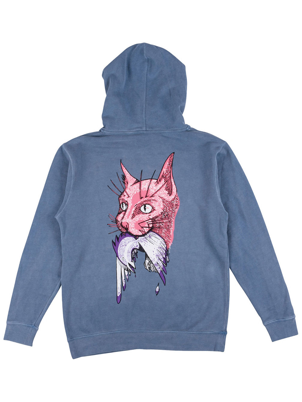 Cat Gets Bird Pigment Dyed Hoodie