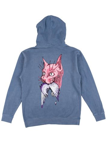 Welcome Cat Gets Bird Pigment Dyed Hoodie