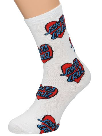 Santa Cruz Multi Heart Dot Socks