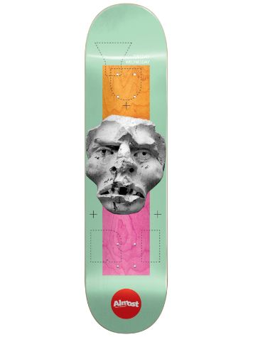 "Almost Stone Head Impact Light 8.375"" Skateboard De"