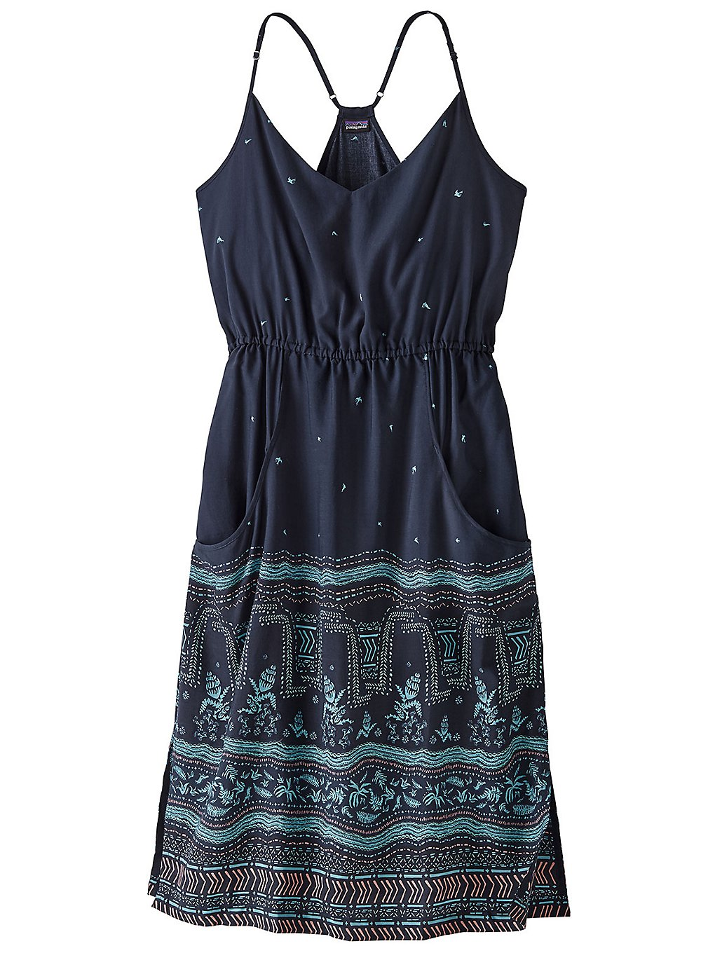 Patagonia Lost Wildflower Dress forest song neo navy
