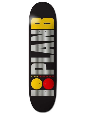 "Plan B Team Og Blk Ice 8.25"" Skateboard Deck"