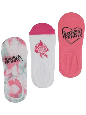 Broken Promises Heart Throb 3Pk Strømper