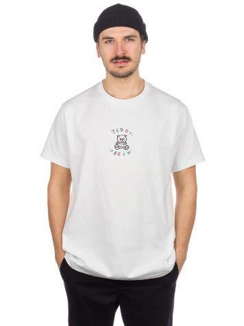 Teddy Fresh White Embroidery Logo T-shirt