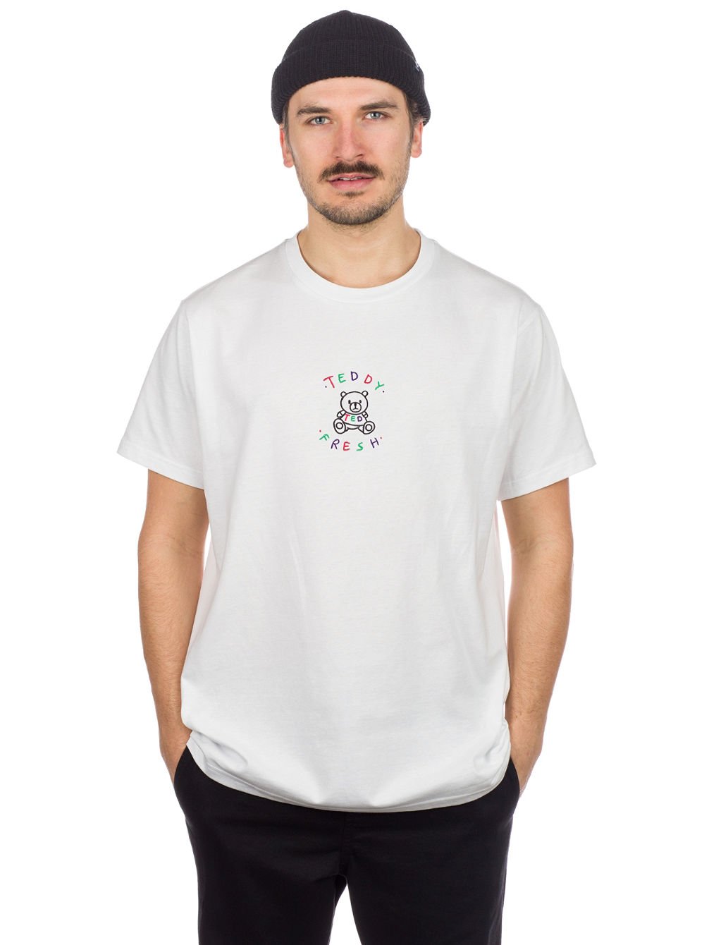 White Embroidery Logo T-Shirt