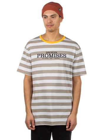 Broken Promises Actions not Words Stripe T-shirt