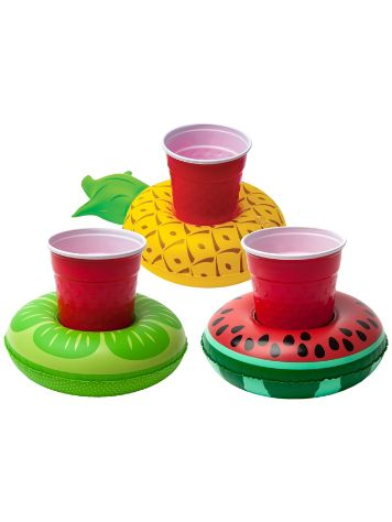Big Mouth Toys Tropical Fruits Beverage Boats 3Pk
