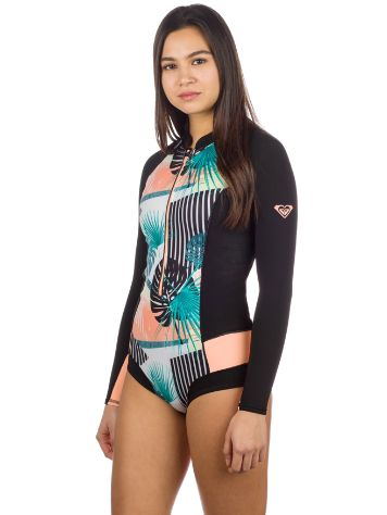 Roxy 1.0 Pop Surf Fz Ls Cheeky Spring Blc Wetsuit