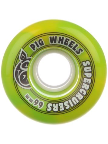 Pig Wheels Supercruiser Swirl 85A 66mm Rollen